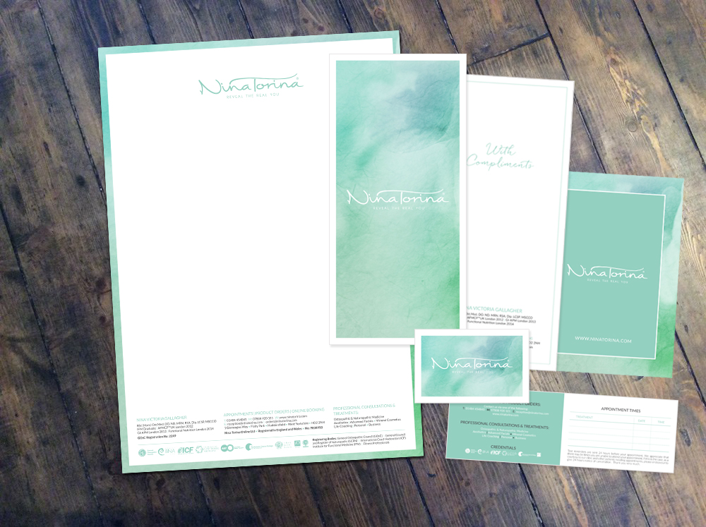 Corporate Stationery Design For Nina Torina