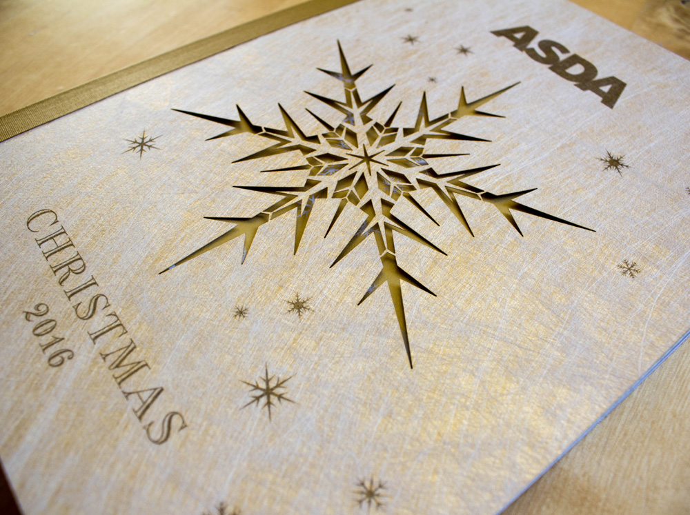 laser cut snowflake ASDA Christmas in July cover