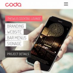 New design projects up now thewlis wwwwearecodacomthewliscocktaillounge