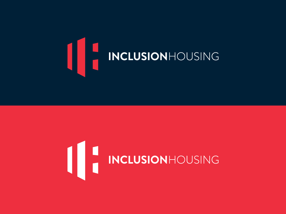 Inclusion housing new brand symbol, word mark and corporate logo